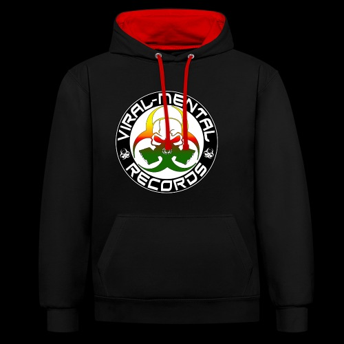 Viral Mental Records Logo - Contrast Colour Hoodie