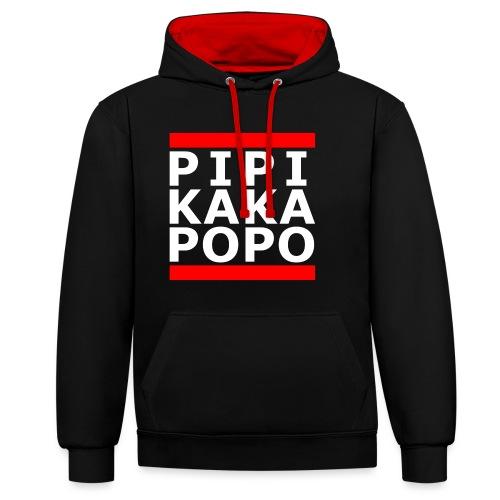 pipikakapopo - Kontrast-Hoodie