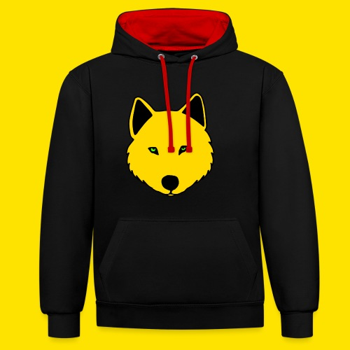 Jasja The Wolf - Contrast Colour Hoodie