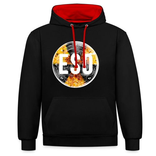 eso logo for tshirtspinbw png - Contrast Colour Hoodie