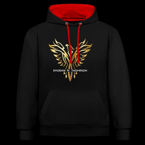 Golden Phoenix Design - Contrast Colour Hoodie