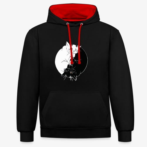 Yin and Yang - Sweat-shirt contraste