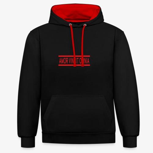 Amor Vincit Omnia - Contrast hoodie