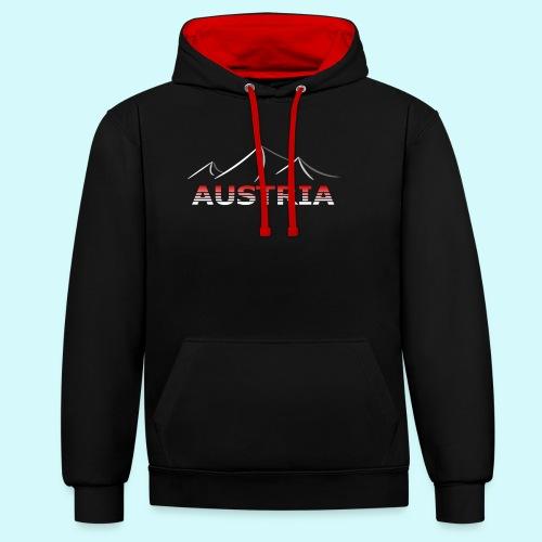 Austria - Österreich Berge T-Shirt - Kontrast-Hoodie