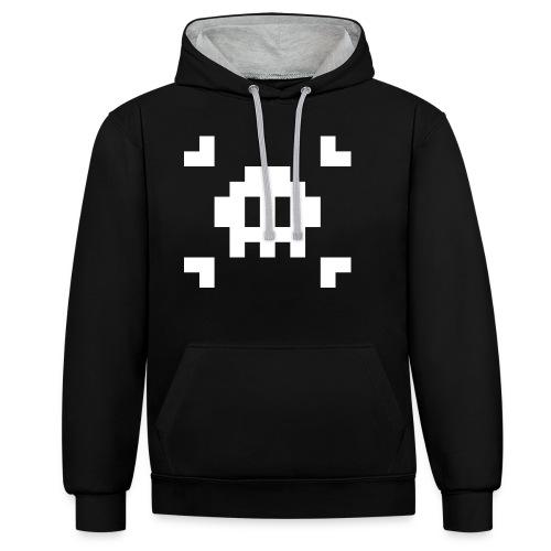 Pixel Skull - Sweat-shirt contraste
