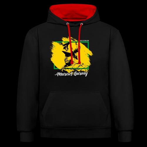 MARCUS GARVEY by Reggae-Clothing.com - Kontrast-Hoodie