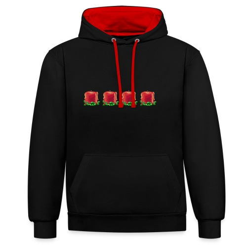 Advent countdown 1 - Contrast Colour Hoodie