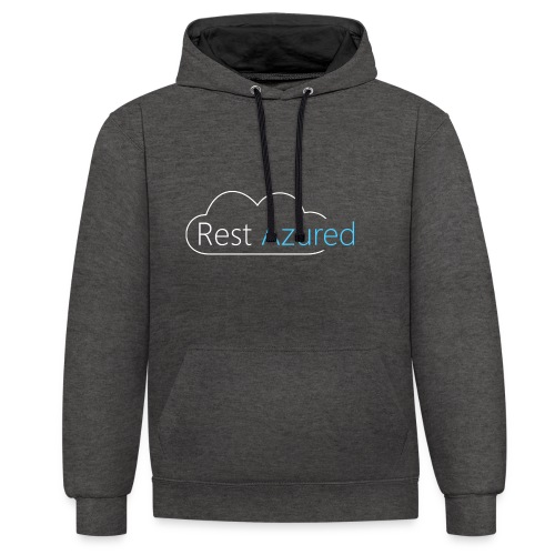 Rest Azured # 2 - Contrast Colour Hoodie