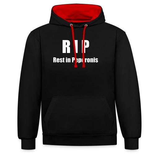 RIP Rest in Peperonis - Kontrast-Hoodie