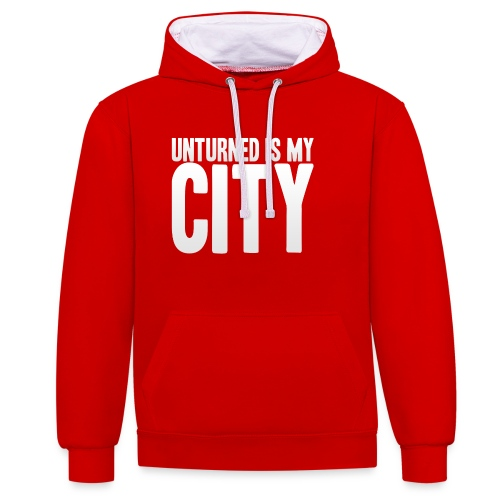 Unturned is my city - Contrast Colour Hoodie