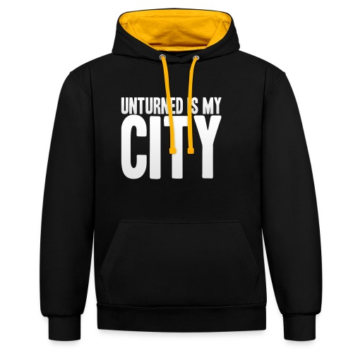 Unturned is my city - Contrast Colour Hoodie