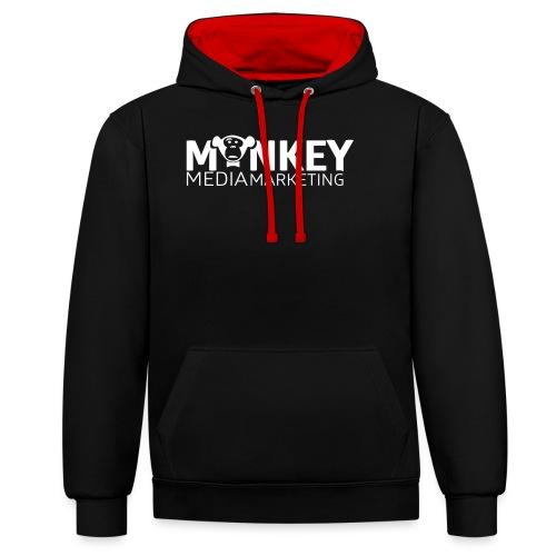 MonkeyMedia Marketing - Kontrast-Hoodie