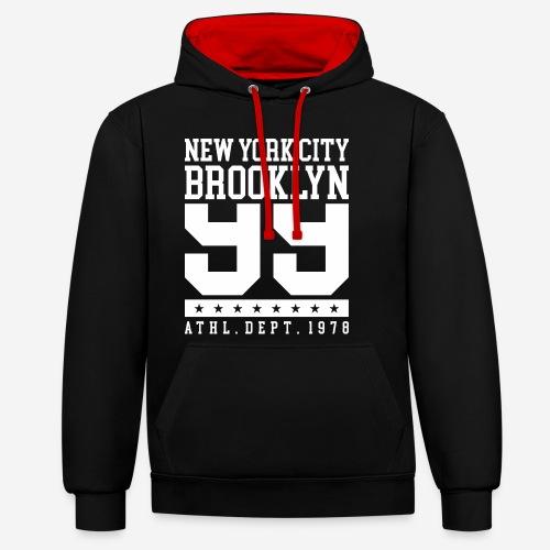 New York City Brooklyn - Kontrast-Hoodie