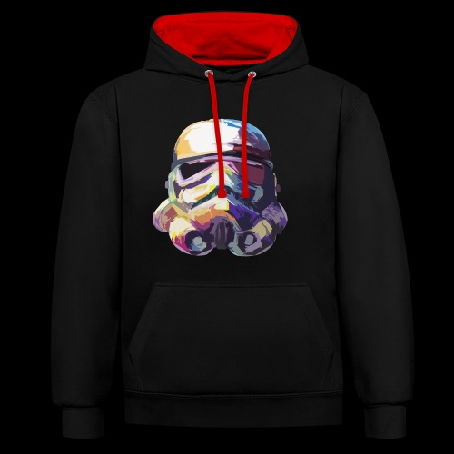 Stormtrooper with Hope - Contrast Colour Hoodie