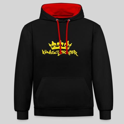 Königstochter m. Krone über der stylischen Schrift - Kontrast-Hoodie