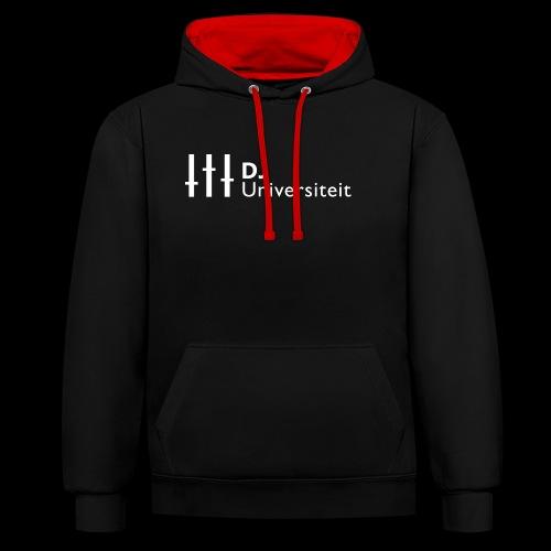 DJ-U (WIT) - Contrast hoodie