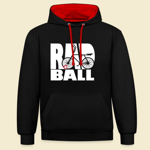 Radball   Typo - Kontrast-Hoodie