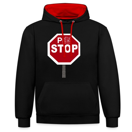 Pee Stop for Concert Goers! - Contrast Colour Hoodie
