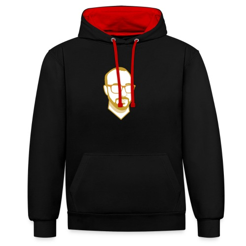 F07869 png - Contrast Colour Hoodie