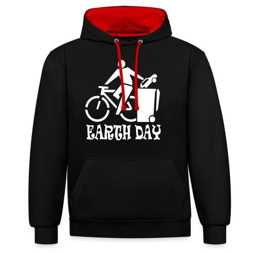 Eartth Day - Kontrast-Hoodie