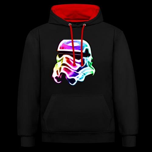 Rainbow Stormtrooper - Contrast Colour Hoodie