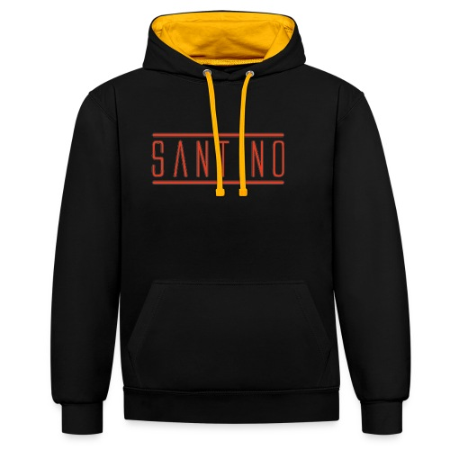 orange noir - Sweat-shirt contraste