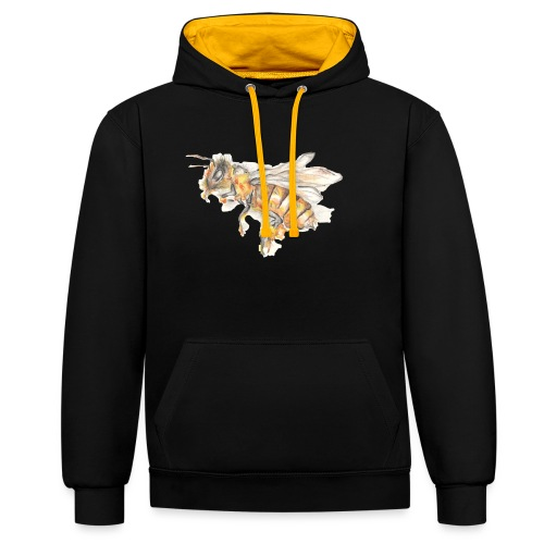 MG002 Bee | Honey | Save the Bees | Books bee - Contrast Colour Hoodie