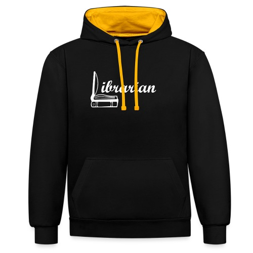 0325 Librarian Librarian Cool design - Contrast Colour Hoodie