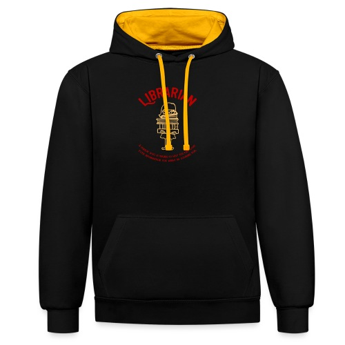 0330 Librarian Librarian Library Book - Contrast Colour Hoodie