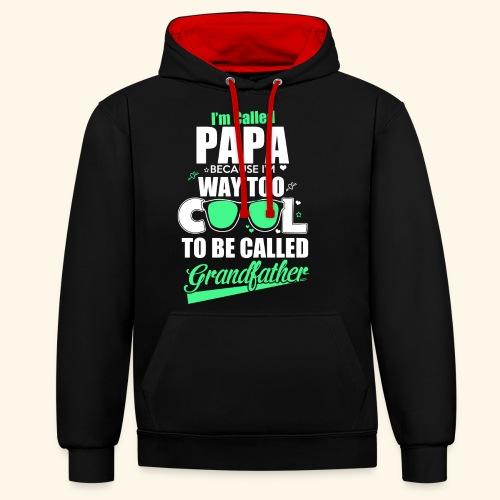 Cooles Papa Opa Grandfather T-Shirt Englisch - Kontrast-Hoodie