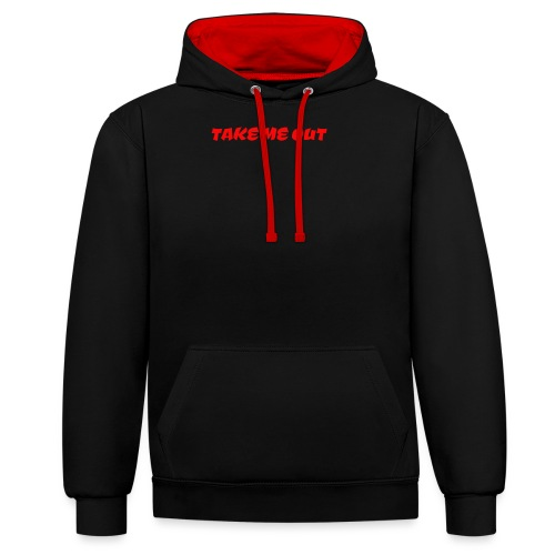 Take me out - Contrast Colour Hoodie