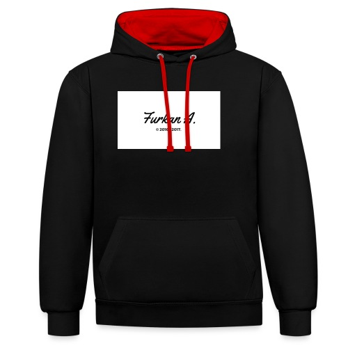 Furkan A - Zwarte sweater - Contrast hoodie