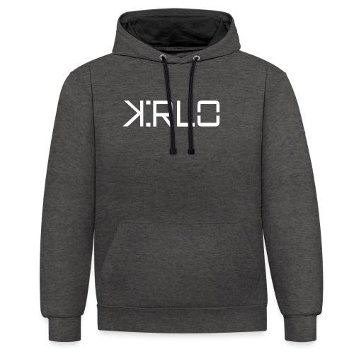 Kirlo Logo Blanco - Sudadera con capucha en contraste