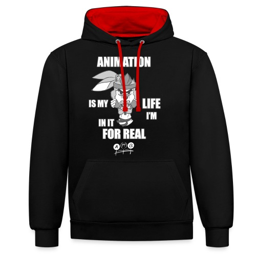 AMB Animation - In It For REAL - Contrast Colour Hoodie