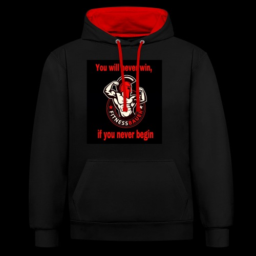 You will never win - Kontrast-Hoodie