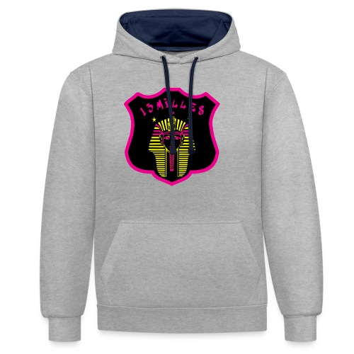 Pharaon Noir, Rose, Jaune hyper design - Sweat-shirt contraste