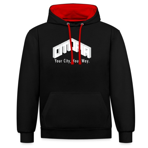 Logo with Slogan - Contrast Colour Hoodie