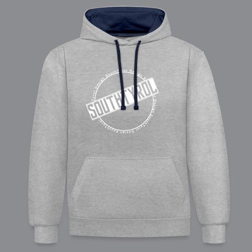 SouthTyrol Kreis weiß - Kontrast-Hoodie