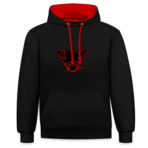 Vampire Sheep (red) - Contrast Colour Hoodie