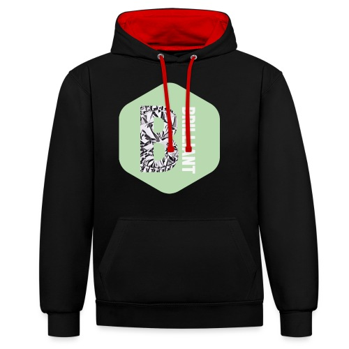 B brilliant green - Contrast hoodie