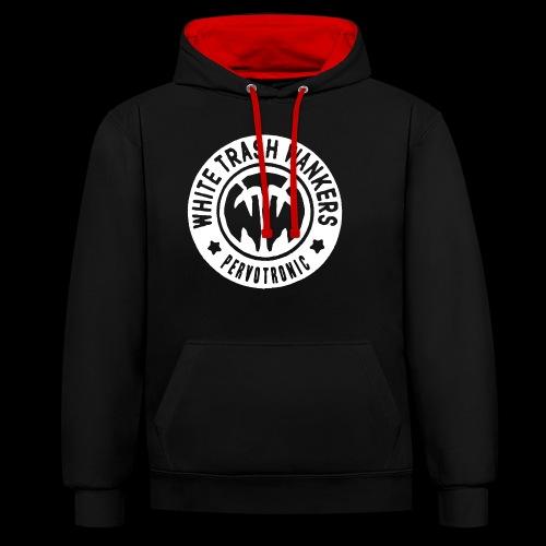 White Trash Wankers Pervotronic-Logo - Kontrast-Hoodie