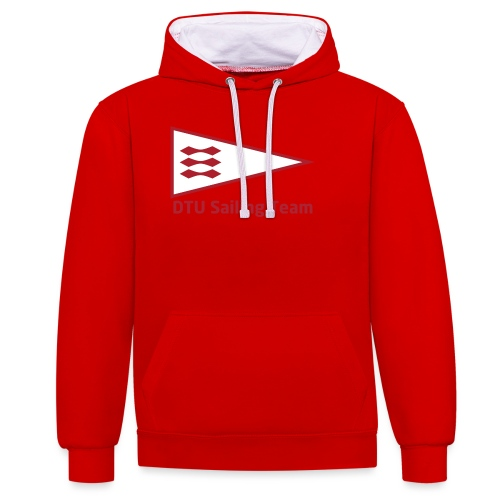DTU Sailing Team Official Workout Weare - Contrast Colour Hoodie
