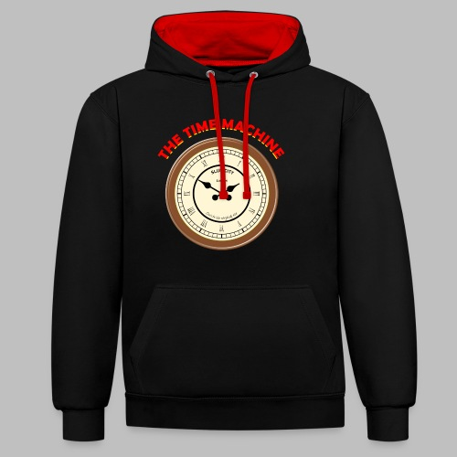 Time Machine - Contrast Colour Hoodie