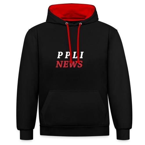 PPLI NEWS - Sudadera con capucha en contraste