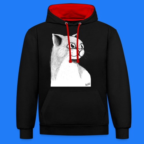 CAT HEAD by AGILL - Sweat-shirt contraste