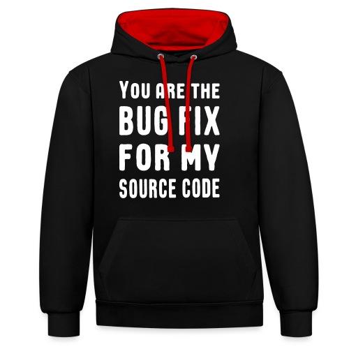 Programmierer Beziehung Liebe Source Code Spruch - Kontrast-Hoodie