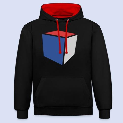 Cube Minimaliste - Sweat-shirt contraste
