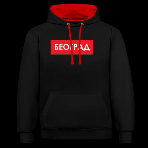 Beograd - Utoka - Kontrast-Hoodie