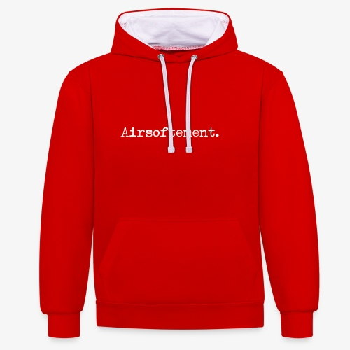 Airsoftement. (Blanc) - Sweat-shirt contraste