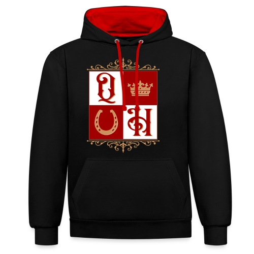 Quater Horse Ornament Pferd Royal König Geschenk - Kontrast-Hoodie